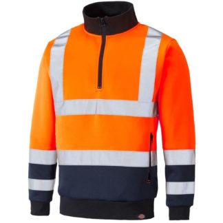 Dickies Two Tone Hi-Vis Sweat (Orange)