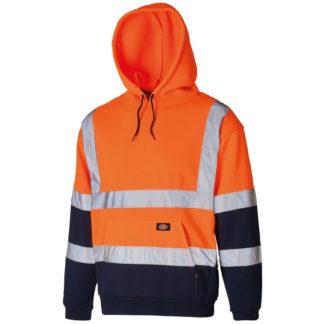 Dickies Two Tone Hi-Vis Hoodie (Orange)