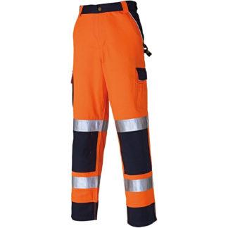 Dickies Industry Hi-Vis Trousers (Orange)
