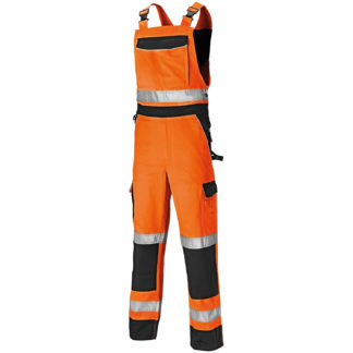 Dickies Industry Hi-Vis Bib and Brace (Orange)