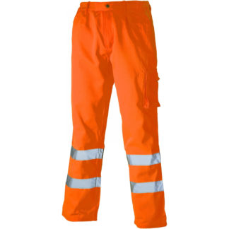 Dickies High Visibility Polycotton Trousers (Orange)