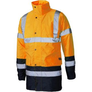 Dickies High Visibility Two Tone Parka Jacket (Orange)