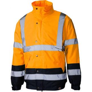 Dickies High Visibility Two Tone Pilot Jacket (Orange)